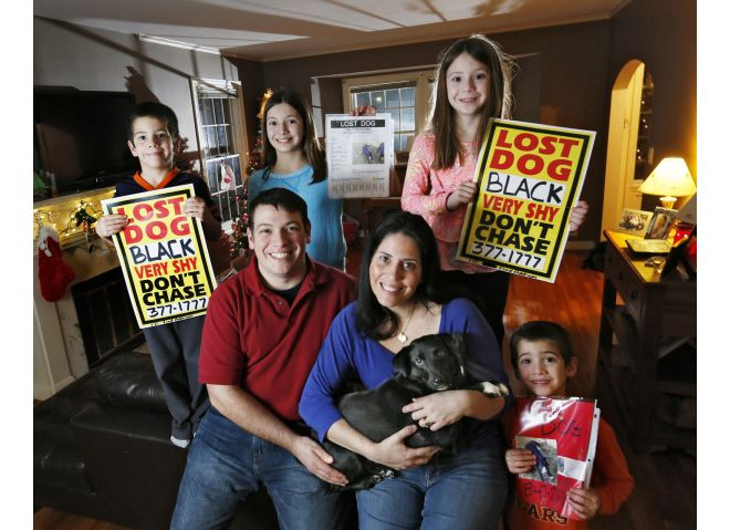 Gomez family with lost dog