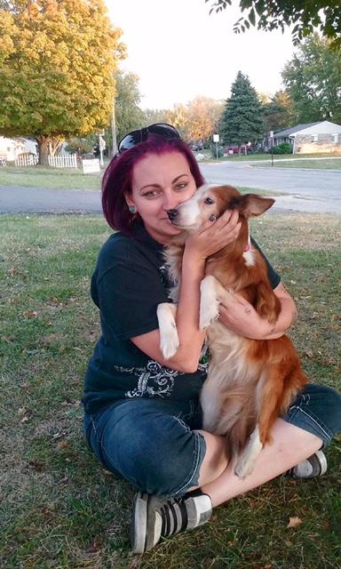 Senior Dog and Mom