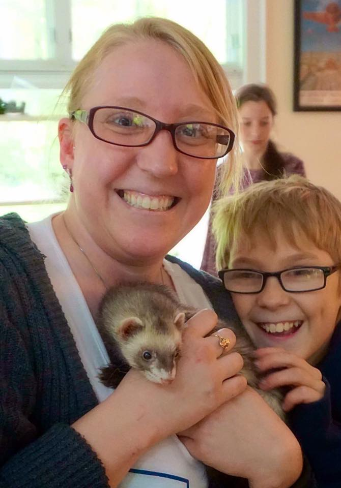 ferret and family